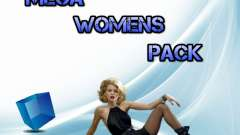 Womens Mega Pack by 7 Pack для GTA San Andreas