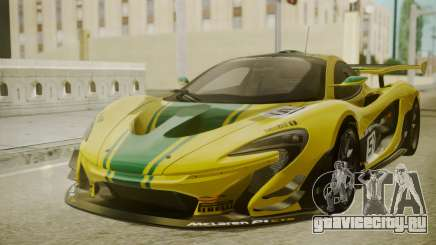 McLaren P1 GTR 2015 Yellow-Green Livery для GTA San Andreas