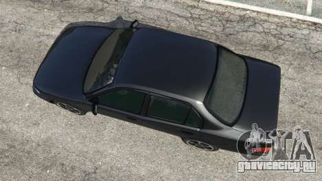 Toyota Corolla 1.6 XEI [black edition] v1.02 для GTA 5 вид сзади