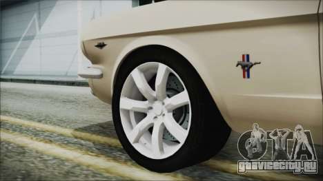 Ford Mustang Fastback 1966 Chrome Edition для GTA San Andreas вид сзади слева