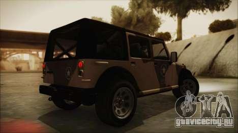 GTA 5 Canis Crusader для GTA San Andreas вид слева
