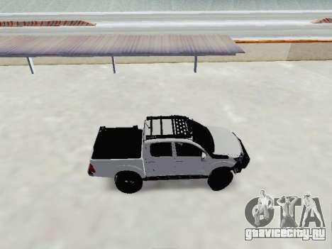 Toyota Hilux Rustica v2 2015 для GTA San Andreas вид слева