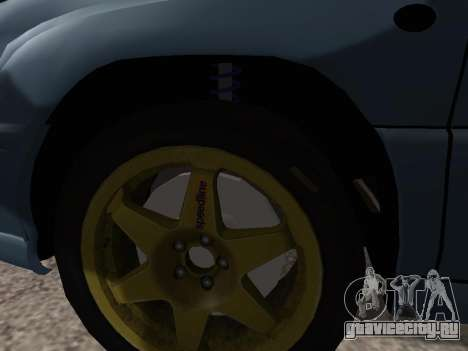 Subaru Forester 1998 для GTA San Andreas вид изнутри