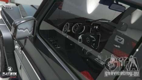Mercedes-Benz G63 AMG v1 для GTA 5 руль и приборная панель