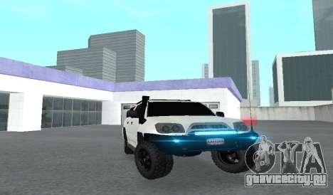 Toyota 4runner 2008 semi-off_road LED для GTA San Andreas вид изнутри