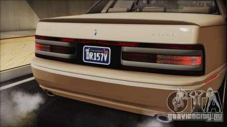 GTA 5 Albany Primo Custom IVF для GTA San Andreas вид изнутри