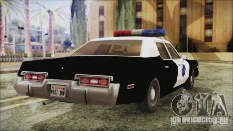 Dodge Monaco 1974 SFPD для GTA San Andreas вид слева