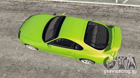 Toyota Supra JZA80 для GTA 5 вид сзади