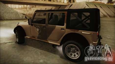 GTA 5 Canis Crusader для GTA San Andreas вид сзади слева