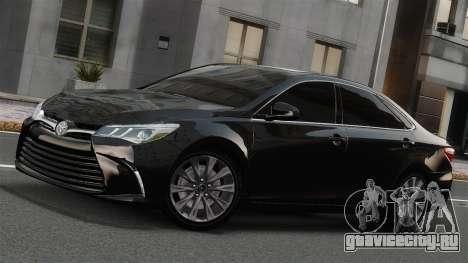 Toyota Camry 2015 USA для GTA 4