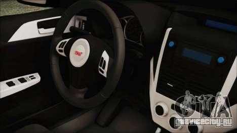 Subaru Impreza Police для GTA San Andreas вид справа