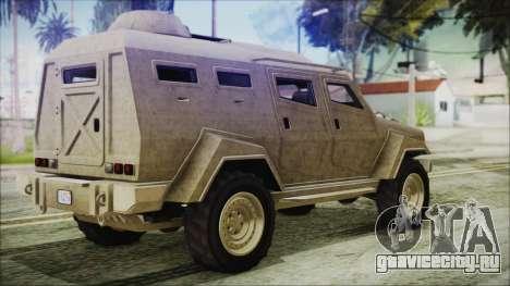 GTA 5 HVY Insurgent Van для GTA San Andreas вид слева