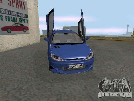 Pegeout 206 PickUP для GTA San Andreas вид слева