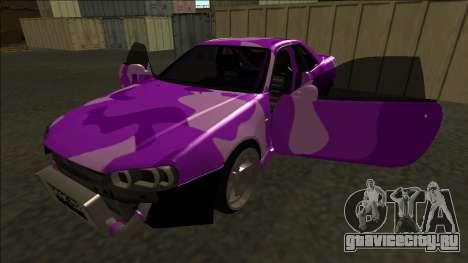 Nissan Skyline R34 Drift для GTA San Andreas вид снизу