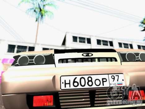 ВАЗ 2111 Tuning для GTA San Andreas вид сзади