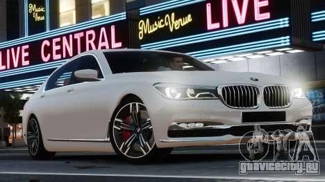 BMW 7-er 2016 для GTA 4 вид слева