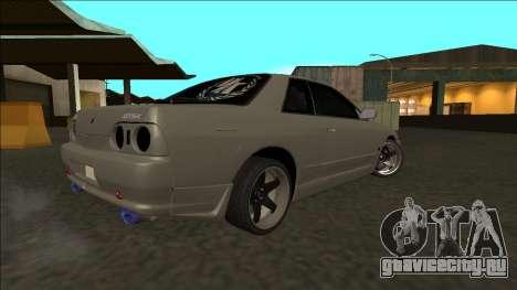 Nissan Skyline R32 Drift для GTA San Andreas вид сзади слева