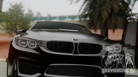 BMW M3 F30 SEDAN для GTA San Andreas вид сзади