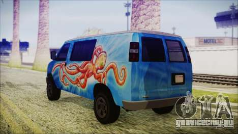 GTA 5 Bravado Paradise Octopus Artwork для GTA San Andreas вид слева