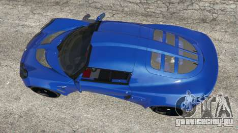 Lotus Exige 240 2008 для GTA 5 вид сзади