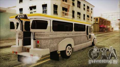 Markshop Jeepney для GTA San Andreas вид слева