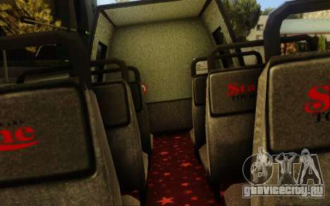 TMZ Tourbus для GTA San Andreas вид сзади