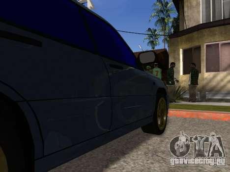 Subaru Forester 1998 для GTA San Andreas вид снизу