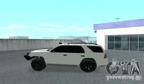 Toyota 4runner 2008 semi-off_road LED для GTA San Andreas вид слева
