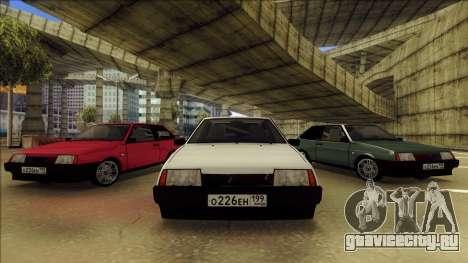 ВАЗ 2108 для GTA San Andreas вид сверху