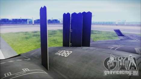 B-2A Spirit Stealth Bomber для GTA San Andreas вид сзади слева