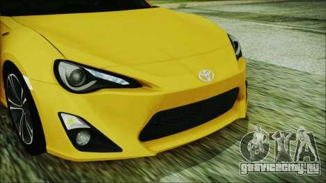 Toyota GT86 (ZN6) 2012 HD Algeria PJ для GTA San Andreas вид изнутри