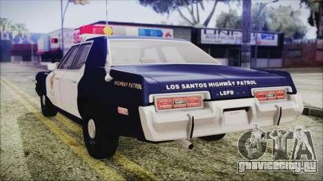 Dodge Monaco 1974 LSPD Highway Patrol Version для GTA San Andreas вид слева