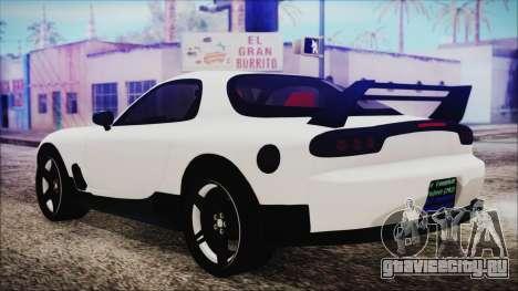 Mazda RX-7 Enhanced Version для GTA San Andreas вид слева