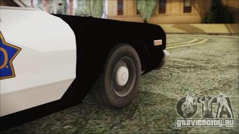 Dodge Monaco 1974 SFPD для GTA San Andreas вид сзади слева
