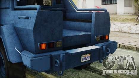 GTA 5 HVY Insurgent Pick-Up IVF для GTA San Andreas вид сверху