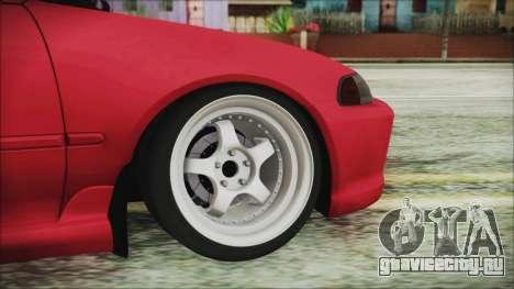 Honda Civic EG6 Hellaflush для GTA San Andreas вид сзади слева