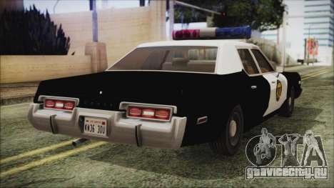 Dodge Monaco 1974 LVPD IVF для GTA San Andreas вид слева