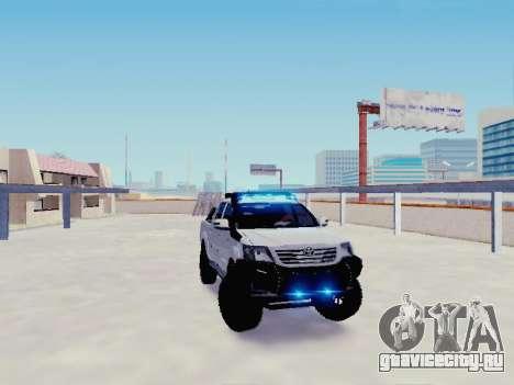 Toyota Hilux Rustica v2 2015 для GTA San Andreas вид справа