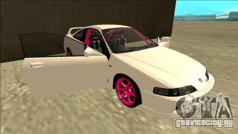 Honda Integra Drift для GTA San Andreas вид снизу