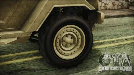 GTA 5 HVY Insurgent Pick-Up для GTA San Andreas вид сзади слева