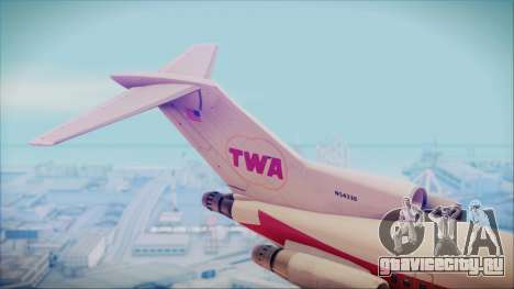 Boeing 727-200 Trans World Airlines для GTA San Andreas вид сзади слева