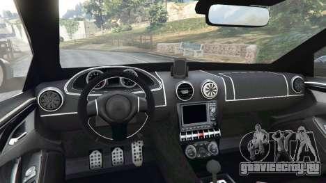 Skoda Octavia VRS 2014 [hatchback] для GTA 5 вид сзади справа