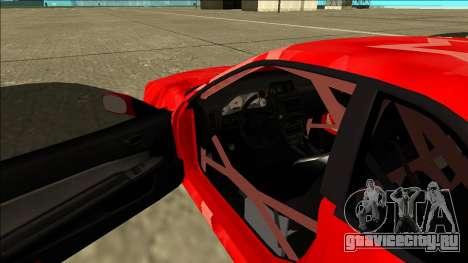 Nissan Skyline R34 Drift Red Star для GTA San Andreas вид изнутри