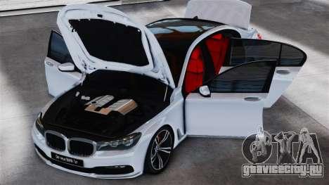 BMW 7-er 2016 v2.0 для GTA 4 вид сзади слева