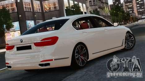BMW 7-er 2016 для GTA 4 вид сзади слева