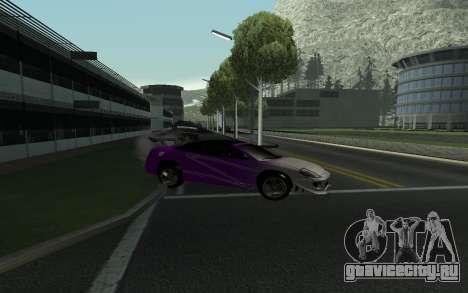 Mitsubishi Eclipse GTS Tunable для GTA San Andreas вид изнутри