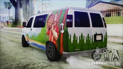 GTA 5 Bravado Paradise Lumberjack Artwork для GTA San Andreas вид слева