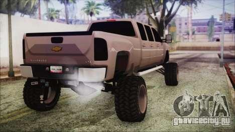Chevrolet Silverado Triple Door для GTA San Andreas вид слева
