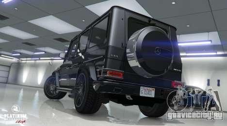 Mercedes-Benz G63 AMG v1 для GTA 5 вид сзади