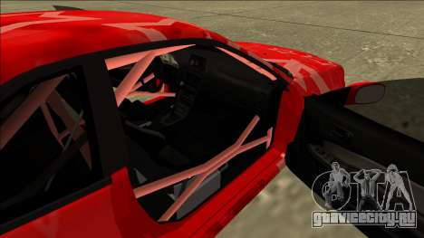 Nissan Skyline R34 Drift Red Star для GTA San Andreas вид сзади
